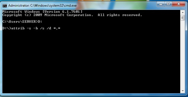 Syntax ATTRIB - Batch File Command