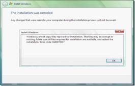 Error Saat Instal Windows 7